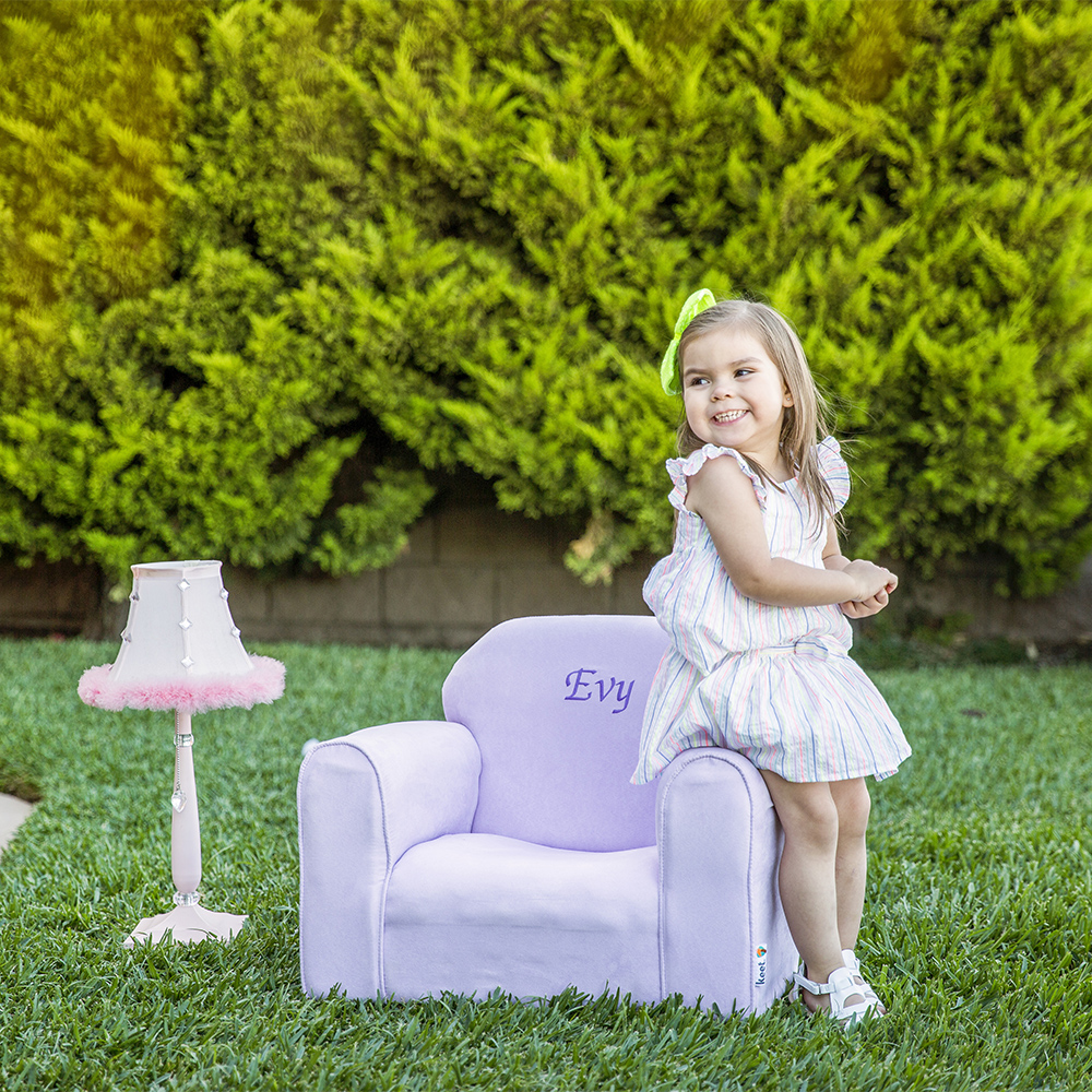 Personalized Upholstered Children's Mini Chair Microsuede