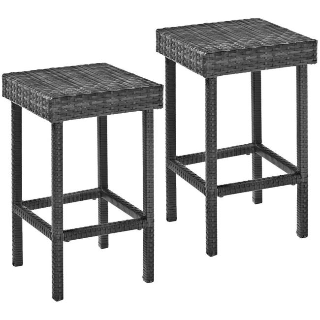 Palm Harbor Outdoor Wicker 24 in. Counter Height Stools - Grey
