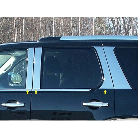 Fits 2007-2014  CADILLAC ESCALADE 4-door, SUV -Stainless Steel Pillars