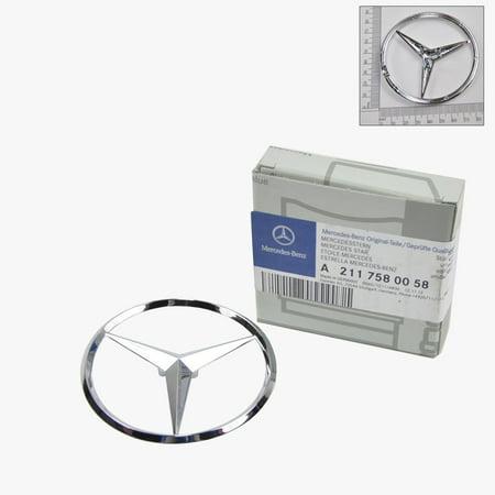Mercedes-Benz Trunk Lid Star Emblem Badge Genuine Original 2110058