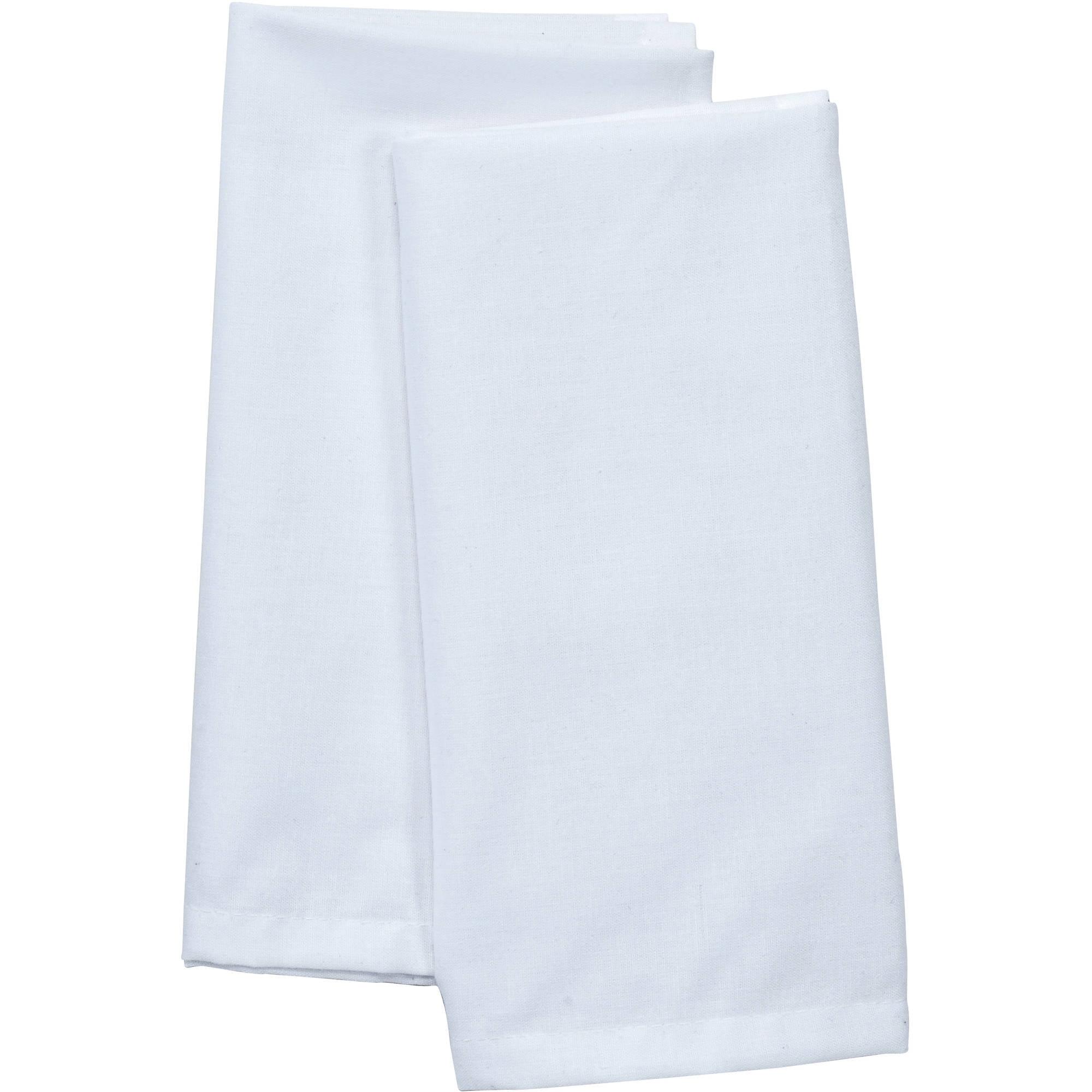 48 white restaurant dinner cloth linen napkins 20x20