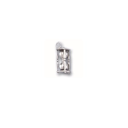 Sterling Silver 3D Hour Glass Charm Item #2905 -