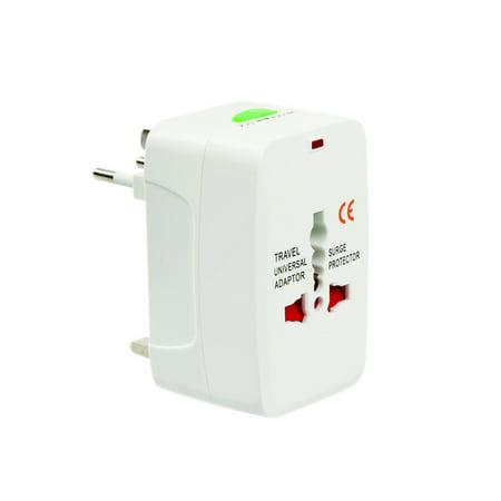 All-In-One International AC Adapter Plug (AU/UK/US/EU)Universal World Wide Travelling AC Power Charger Plug Adaptor Converter,(1 Pack) International Laptop Adapter