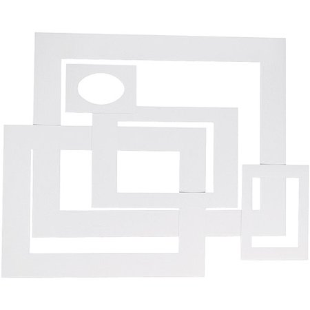 Pacon Pre Cut Mat Frames For Photo Art 12 Mats 5 Asst