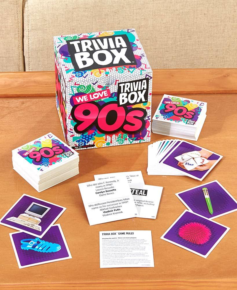 90's Theme Trivia Box Games -