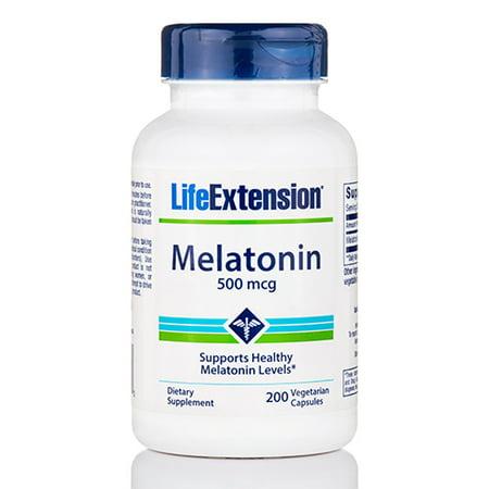 Melatonin 500 mcg - 200 Vegetarian Capsules by Life