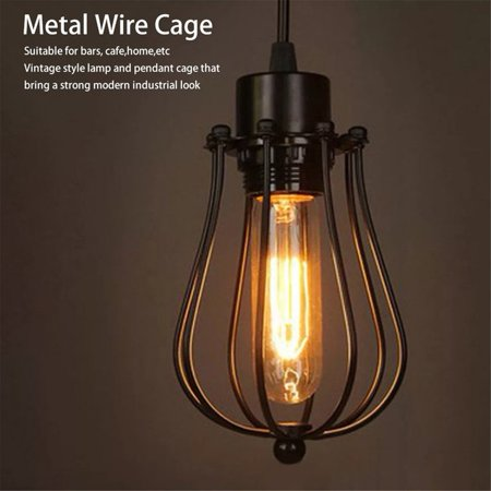 Lampshade Lamp Covers Pendant Chandelier Metal Wire Cage Ceiling ...