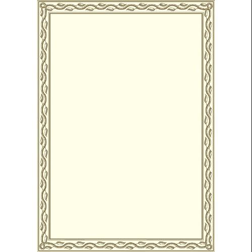 "Geographics Blank Serpentine Certificate - 8.50"" X 11"" - Inkjet, Laser Compatible - Gold With Golden Seal (GEO44407)"