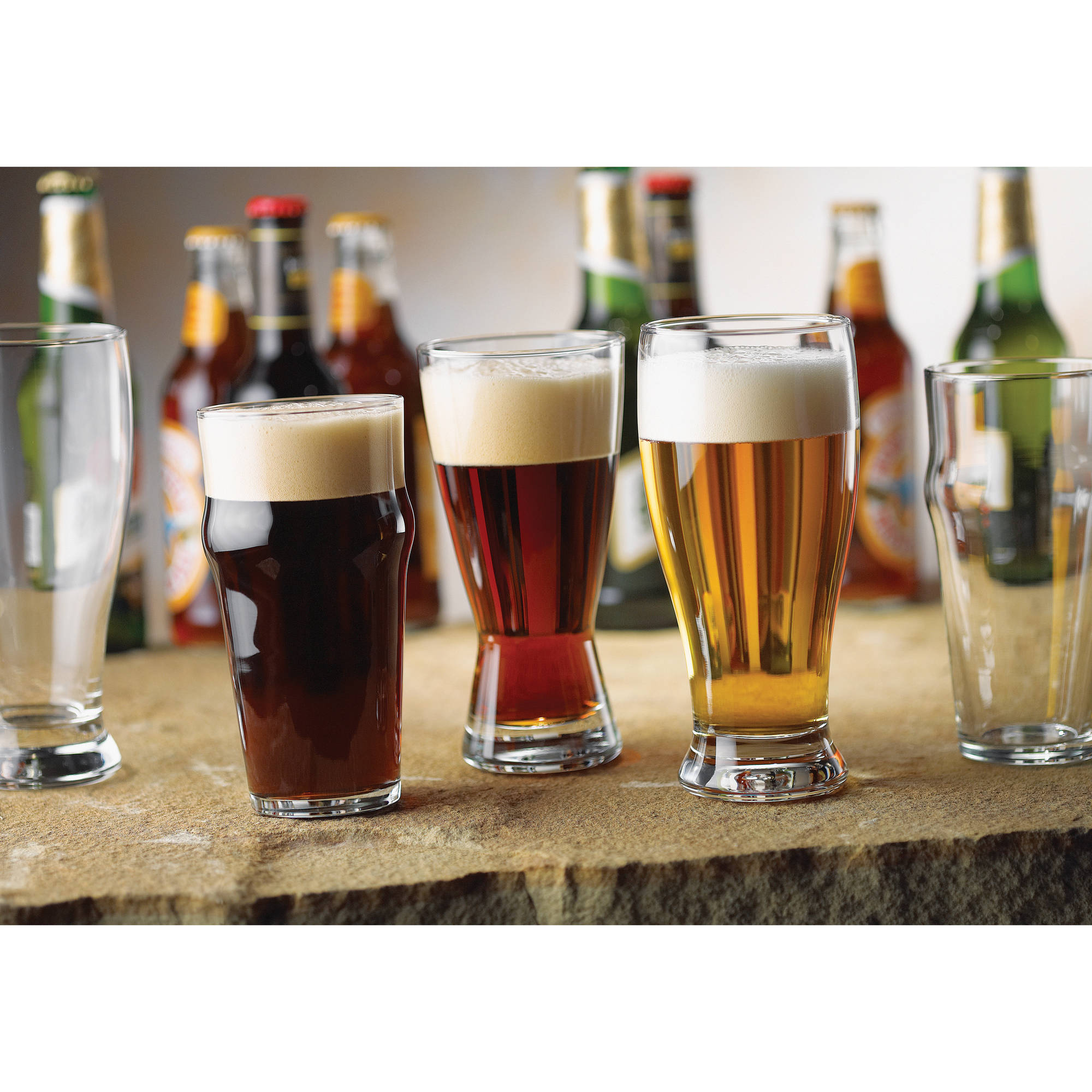 Libbey International Beer Glasses, Set of 12
