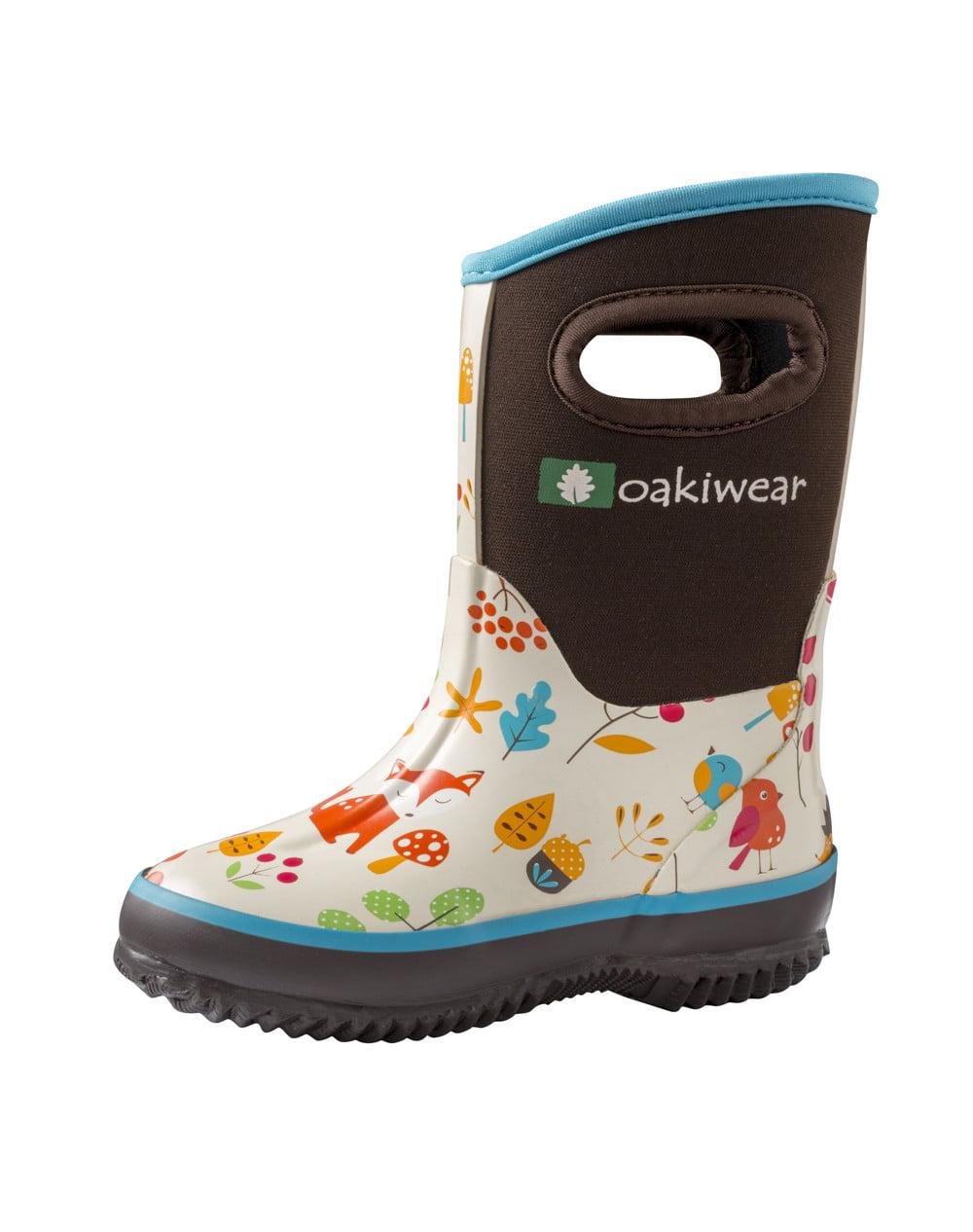 Children's Neoprene Rain/Snow Boots, Forest Animals