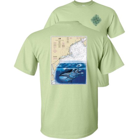 Cape Sable To Cape Hatteras Map Albacore Fishing T-Shirt