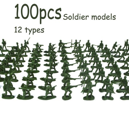 100 pcs Military Playset Plastic Toy Soldiers Army Men 3.8cm Figures - Toy Soldier Clothing