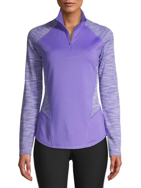 Athletic Works Women's Active Performance 1/4 Zip Textured Pullover Jacket