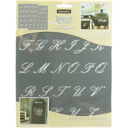 Americana Alphabet Stencils 8.5