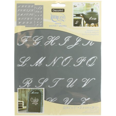 Printable Halloween Alphabet Stencils (Americana Alphabet Stencils 8.5