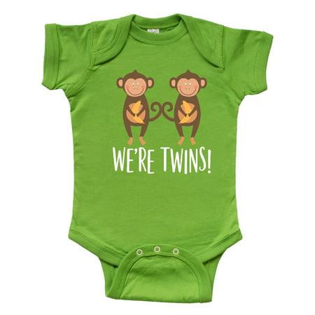 Monkey Twins Boy Girl Gift Idea Infant Creeper](Fall Infant Photo Ideas)