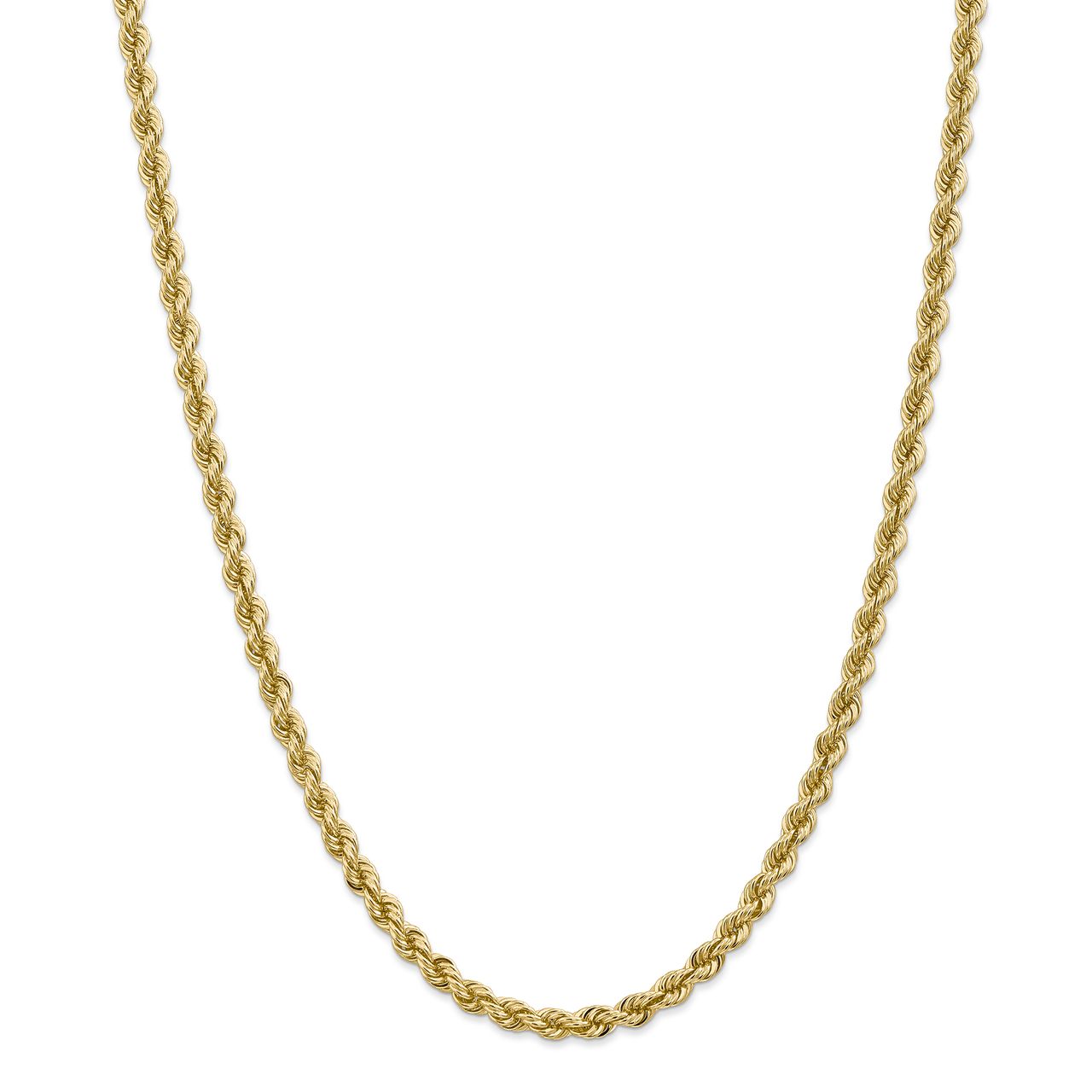 Lex & Lu 14k Yellow Gold 5mm Handmade Regular Rope Chain Necklace or Bracelet by
