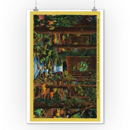 Brookdale Lodge Dining Room (9x12 Art Print, Wall Decor Travel Poster) Dining Decor Art Print