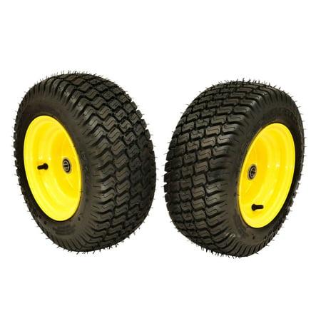 (2) John Deere Front Wheel Assemblies 16x6.50-8 Replaces GY20563