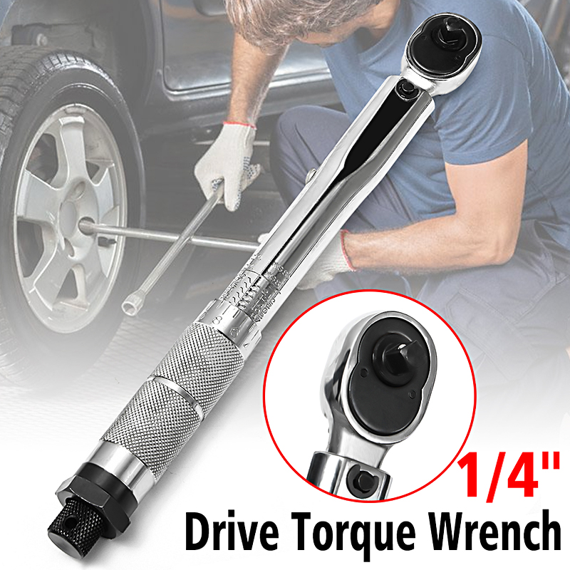 5-25Nm 1/4'' Adjustable Torque Wrench Square Drive Click Ratchet Hand Spanner