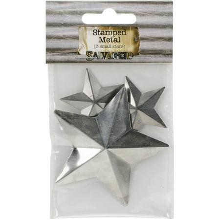 """Tin Metal Shapes 3/Pkg-Stars 1.5""""-3"""""""