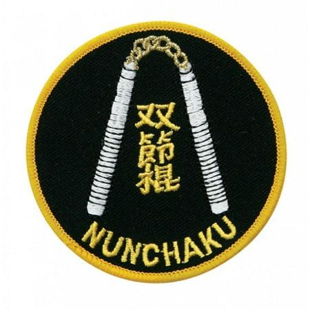 Nunchuck Martial Arts Uniform Patch, 3