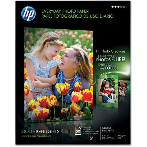 HP Q8723A Everyday Photo Paper, Glossy (50 Sheets, 8.5 x 11-inch)