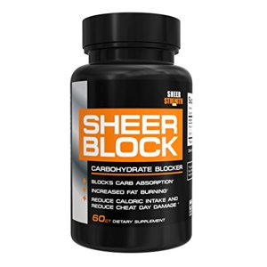 Sheer BLOCK Carbohydrate Blocker, Weight Loss Pills That Naturally Prevent Fat Storage, 60 count