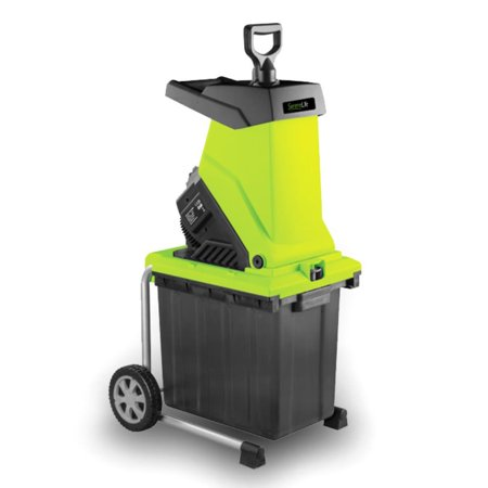 SereneLife Electric Garden Shredder Home Garden Leaf Shredder, Chipper, Mulcher with 50-Liter Collection Bin