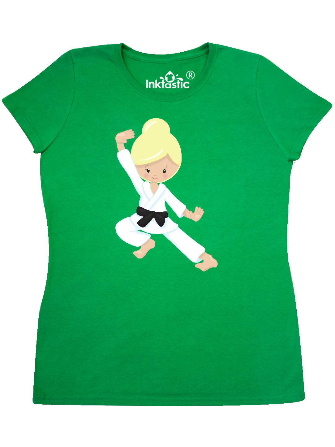 Black Belt Orange Hair inktastic Cute Girl Karate Pose Toddler T-Shirt