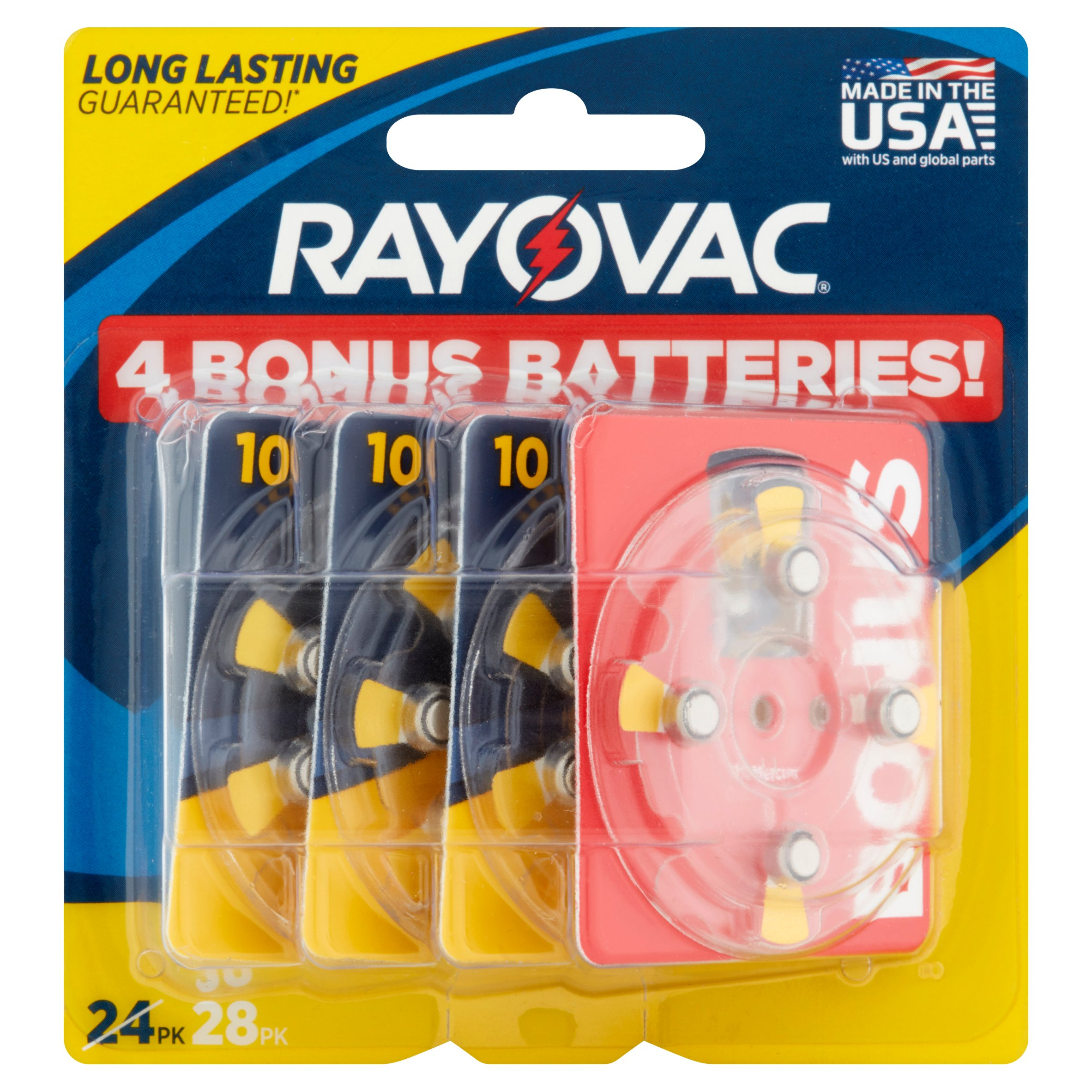 Rayovac 1.45V Hearing Aid Batteries, 28 count