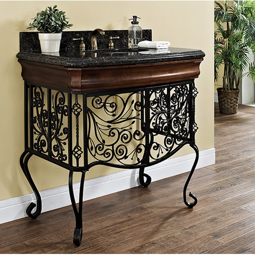 Luxe Bath Works Adria 36'' Antique Vanity Base