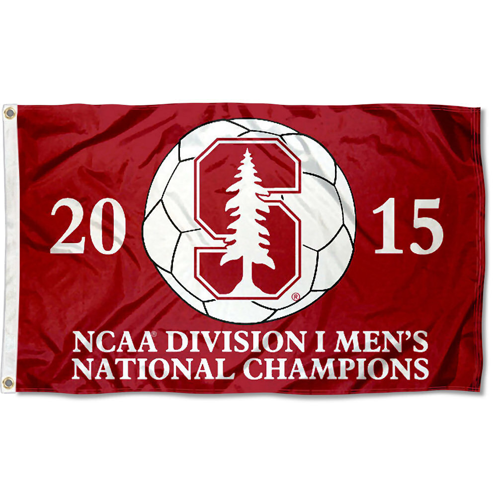 Stanford Cardinal 2015 Men's Soccer Champs 3' x 5' Pole Flag
