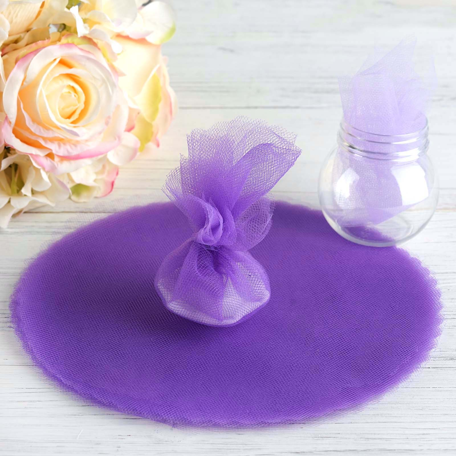 "BalsaCircle 25 9"" Tulle Circles Wedding Party Baby Shower Favors - Crafts Sewing Party DIY Decorations"