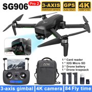 ZLL Beast SG906 PRO 2 RC Drone,Camera 4K 3- Gimbal Brushless Motor 5G Wifi FPV Optical Positioning Quadcopter Point of Interest Waypoint Flight 1200m Distance 28mins Flight Time with Bag 3 Battery
