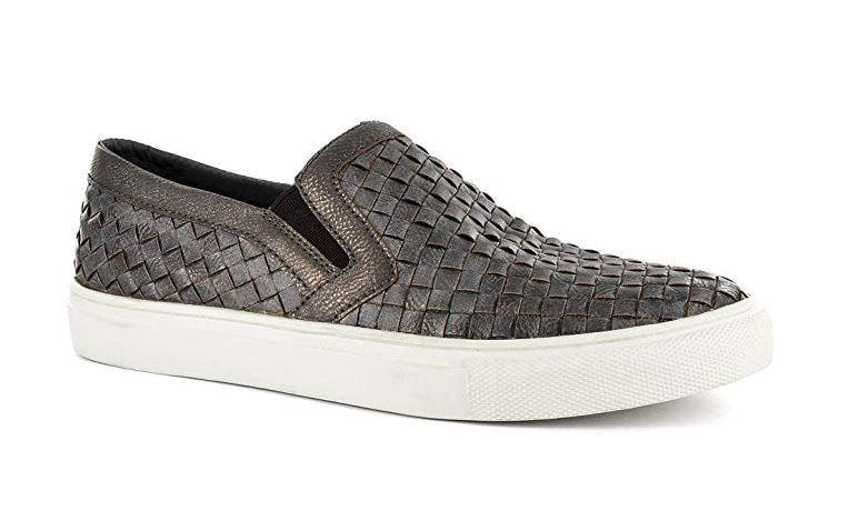 Corkys Boutique Footwear Powder Brushed Bronze Woven Fashion Slip On Size: 11, Width: Medium
