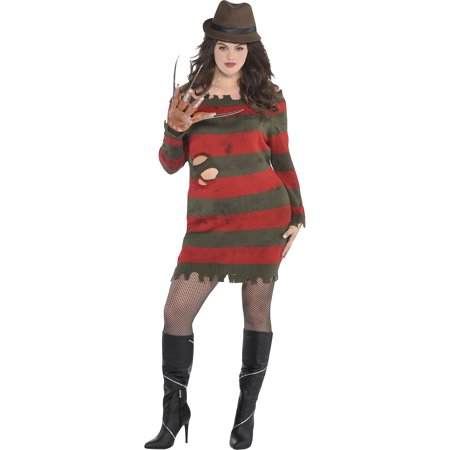 A Nightmare on Elm Street Miss Krueger Costume for Adults, Plus Size, With Dress - Miss Krueger Costume Plus Size