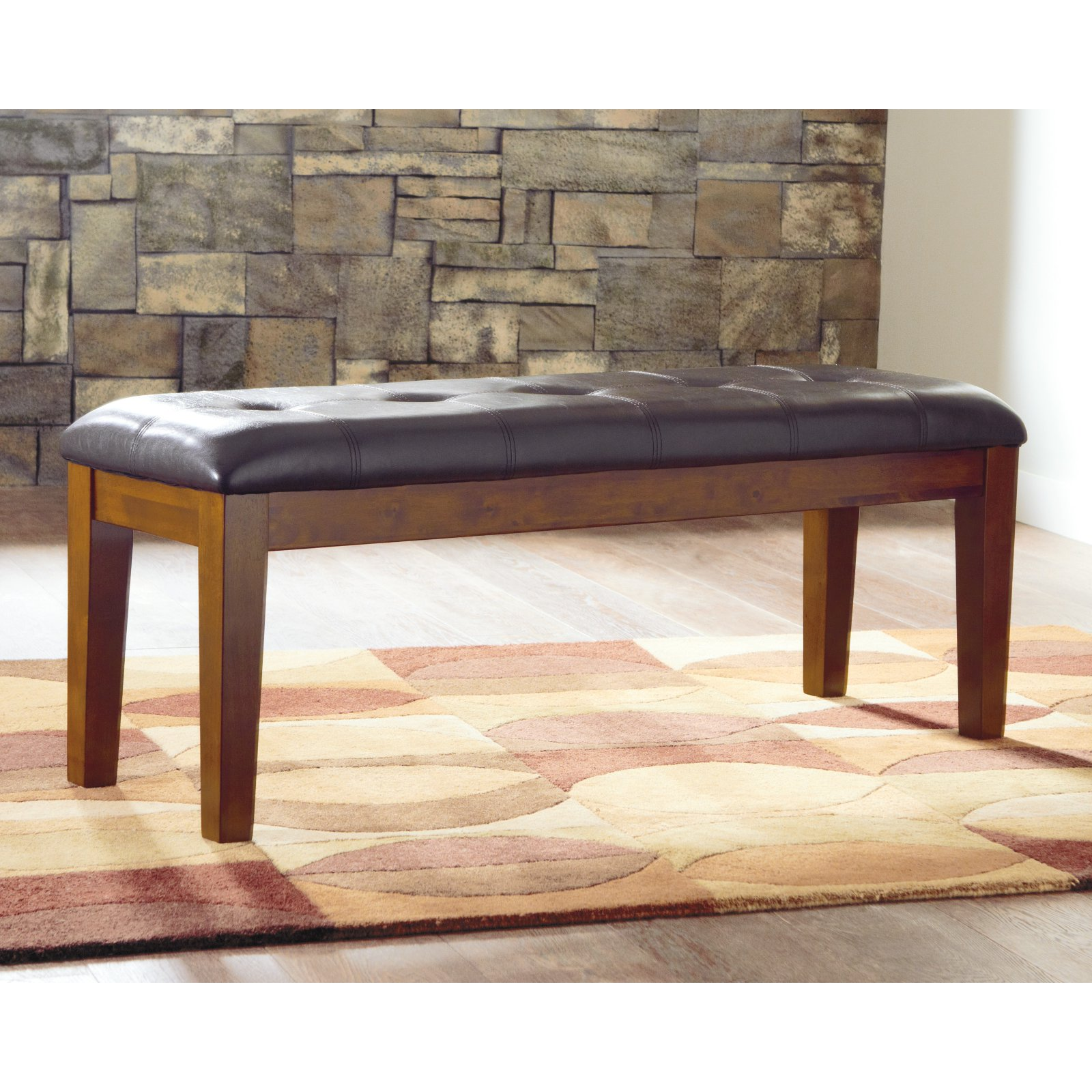 upholstered dining bench long signature design by ashley ralene upholstered dining bench walmartcom