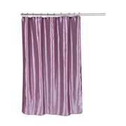 """Shimmer"" Faux Silk Shower Curtain in Purple"