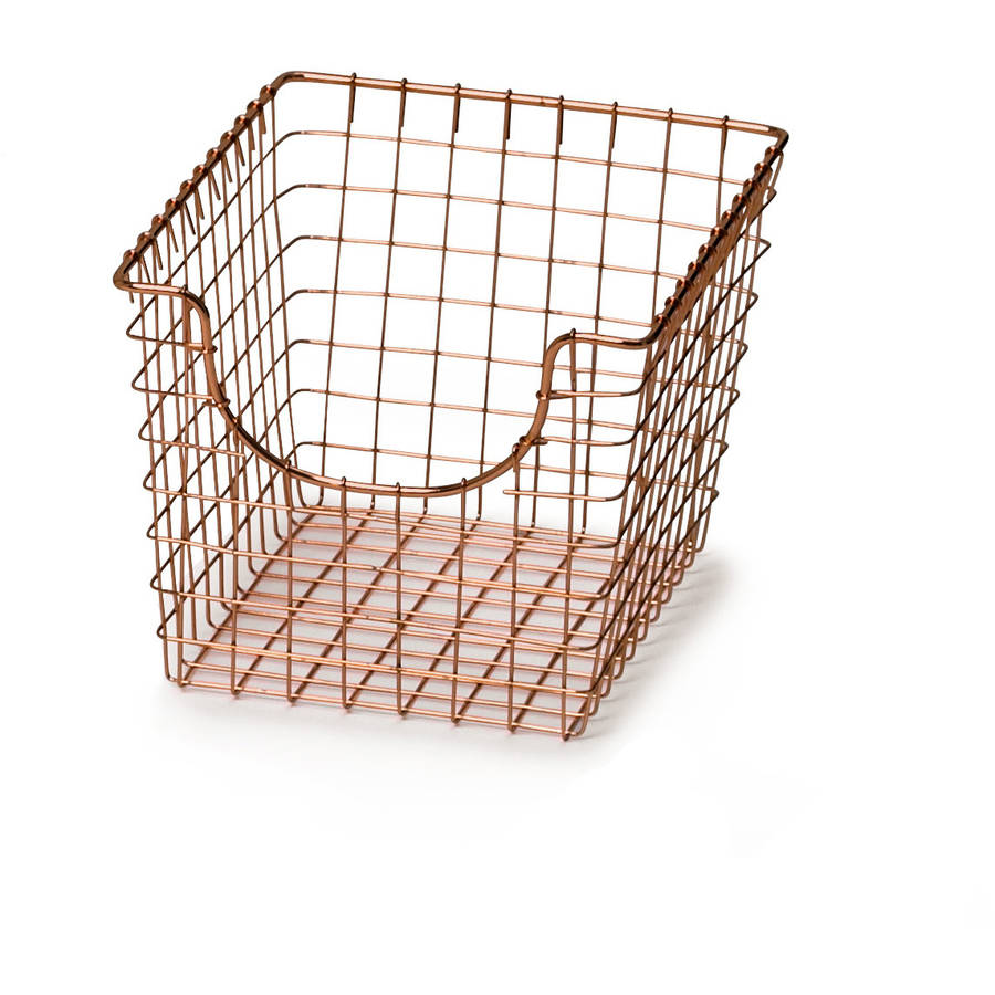 Spectrum Small Scoop Basket, Copper