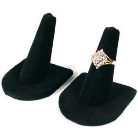 Display Jewelry Showcase Stands - 2 Black Velvet Ring Finger Jewelry Holder Showcase Display Stands, This is a new set of 2 black velvet ring finger displays By FindingKing