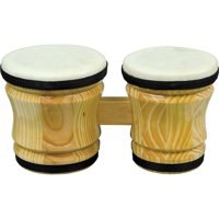 "Rhythm Band Bongo Hardwood Drum, Medium, 6"" x 5"" x 6"""