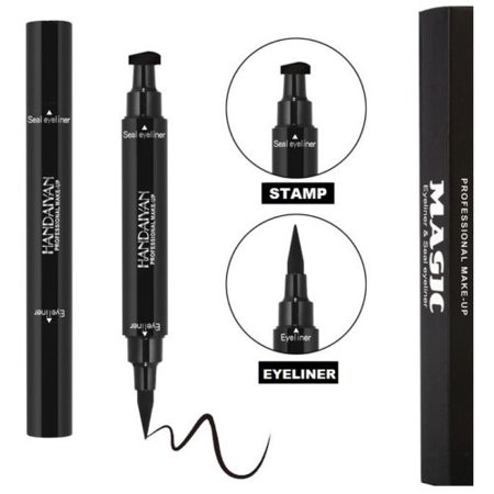 Waterproof Double Ended Eyeliner And Winged Stamp Hygiene Sealed Long Lasting Thin Matte Black Vamp Cat Eye