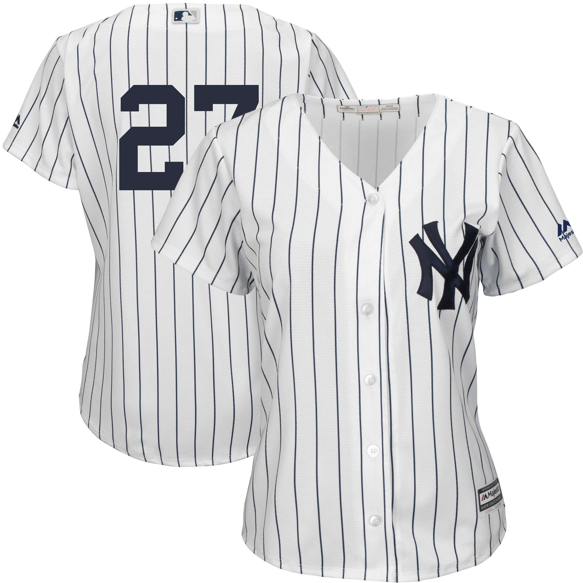 Giancarlo Stanton New York Yankees Majestic Women's Team Cool Base Player Jersey White by MAJESTIC LSG