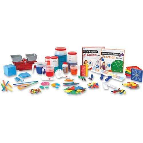 Learning Resources Kid Learning Kit - Theme/subject: Learning - Skill Learning: Mathematics, Comparison, Measurement, Problem Solving, Fraction, Number, Decimal, Shape - 20 Pieces - 9+ (ler1724)