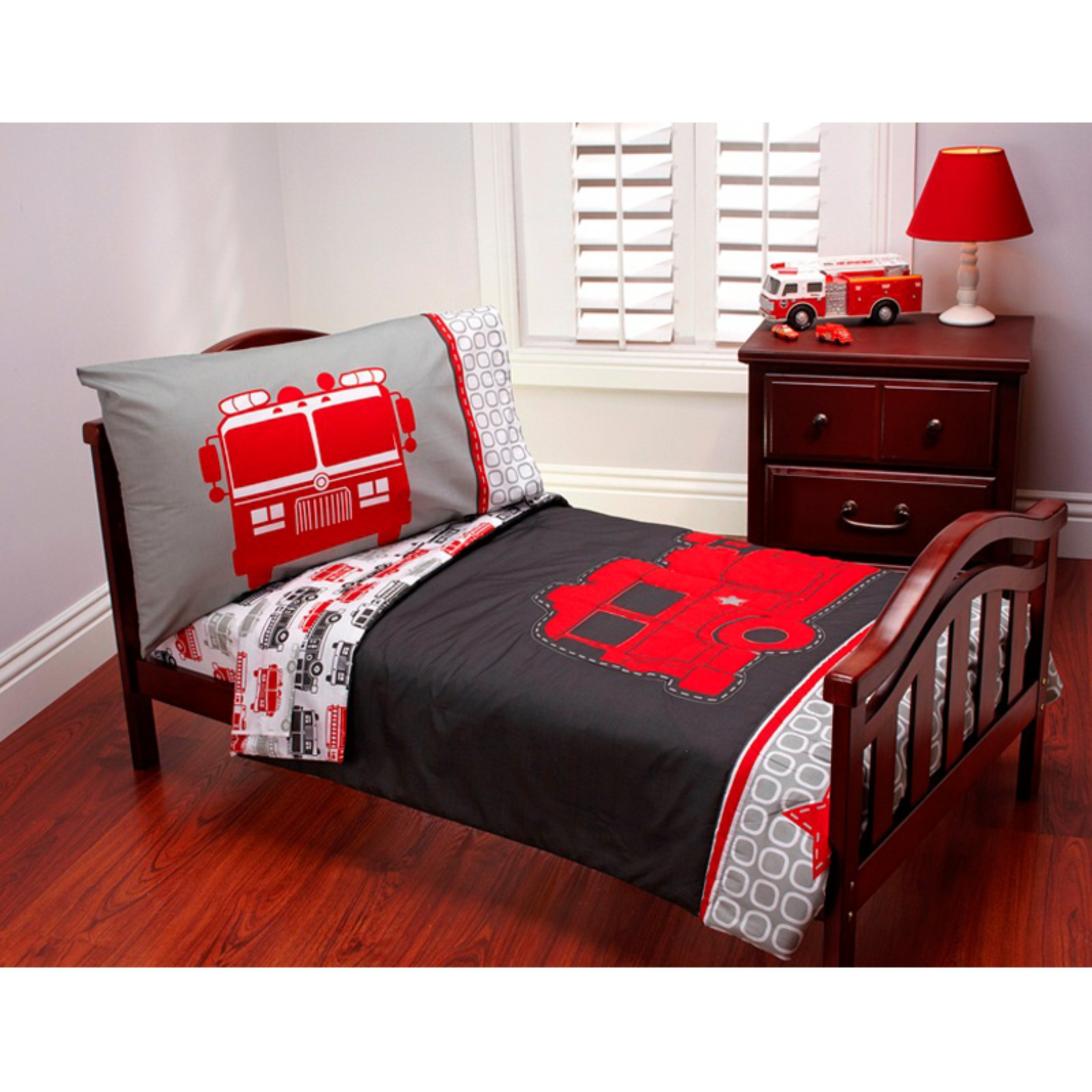 Carter's Fire Truck 4 pc Toddler Bedding Set