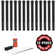 Champ C2X Standard Jet Black - 13 piece Golf Grip Kit (with tape, solvent, vise clamp)
