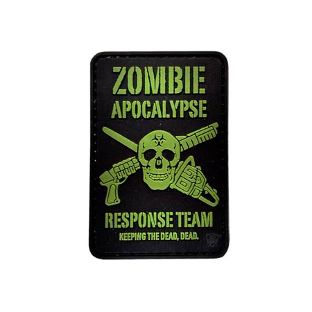 5ive Star Gear Zombie Apocalypse PVC Morale Patch, 2