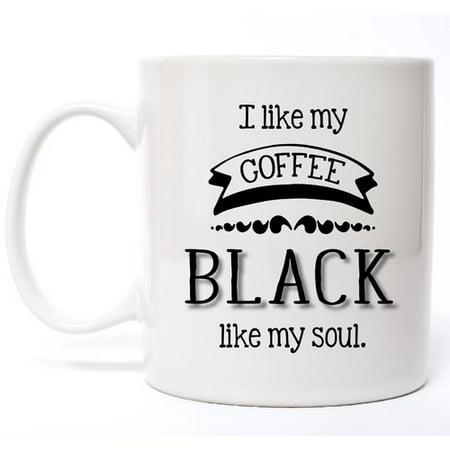 Davis Vinyl Designs I Like My Coffee Black Coffee Mug