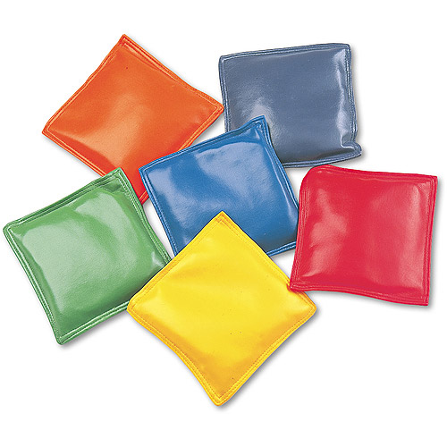 "Champion Sports Bean Bag Set, Vinyl, 4"", Assorted Colors, 6/Set"